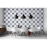 Classic Damask Fresco Potter Square Moroccan Seamless Kingdom Lord King Self Adhesive Hand Drawn Removable Wallpaper WW009