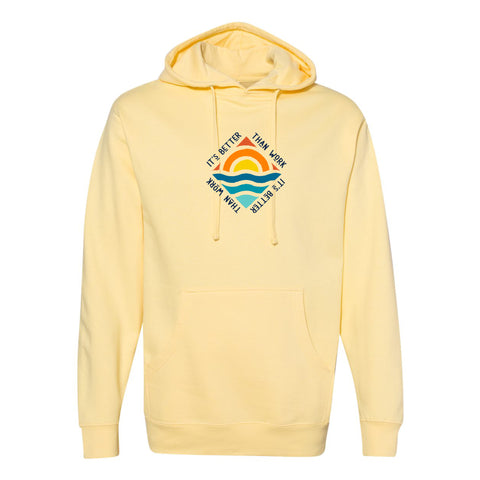 Yellow IBTW Midweight Hooded Sweatshirt