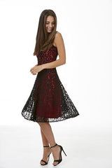 Womens dresses S172505 hibiscus/black