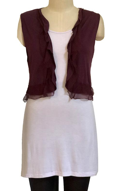 Womens vests S185600 plum