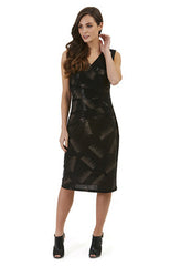 Womens dresses W171509 black/gold