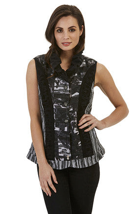 Womens vests W171603 black/grey