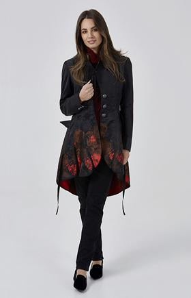 Womens jackets W181303 black/red