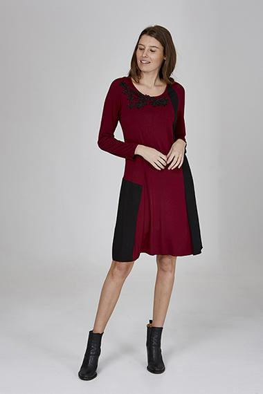 Womens dressess W191501 burgundy