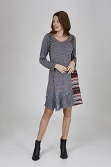 Womens dressess W191502 charcoal