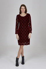 Womens dressess W191509 burgundy