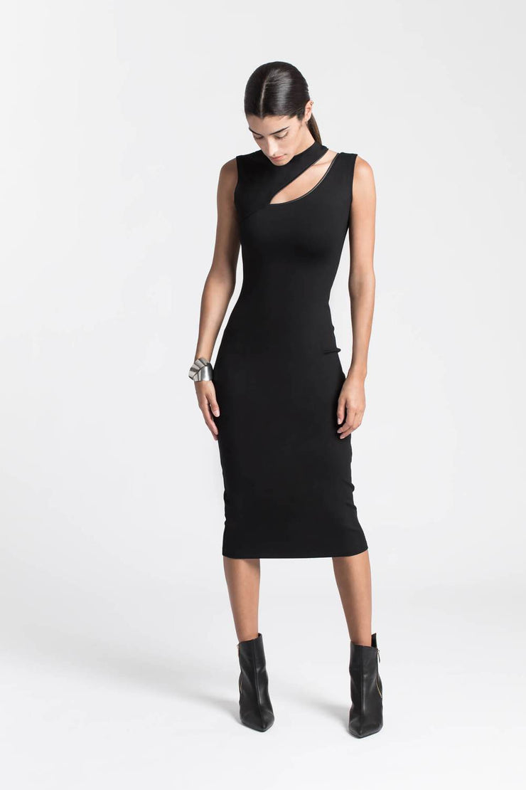 Marcellamoda Cassandra Fitted Dress BLACK MD0152-C