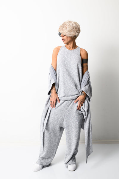 Clothes By Locker Room - Grey Three Pieces Set for Women