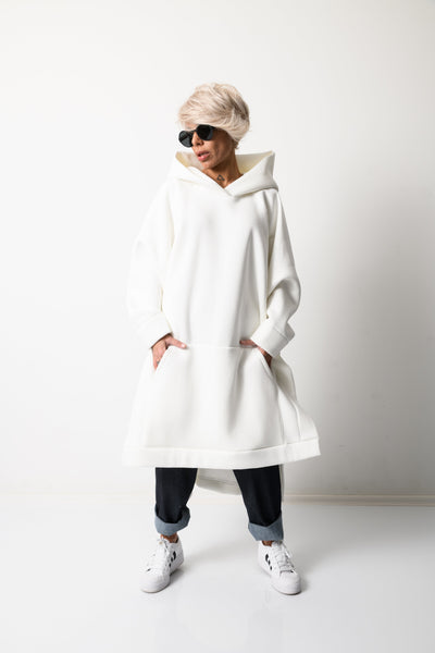 Clothes By Locker Room - White Loose Oversized Hoodie