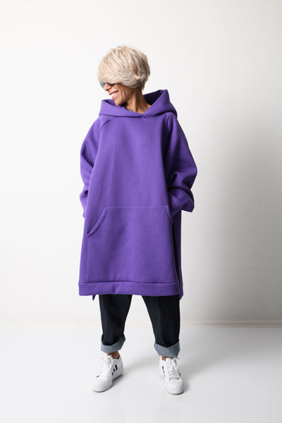 Clothes By Locker Room - Purple Loose Oversized Hoodie