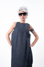 Plus Size Denim Sleeveless Tunic Dress - Clothes By Locker Room