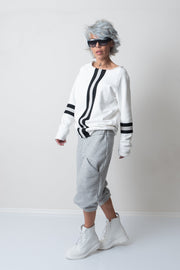 Grey Wide Leg Harem Loose Drop Crotch Pants - Clothes By Locker Room