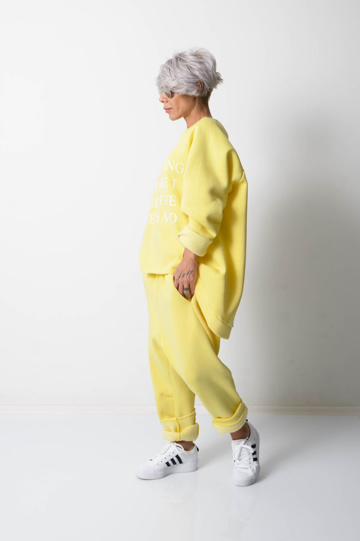 Clothes By Locker Room - Yellow Two Piece Tracksuit For Women