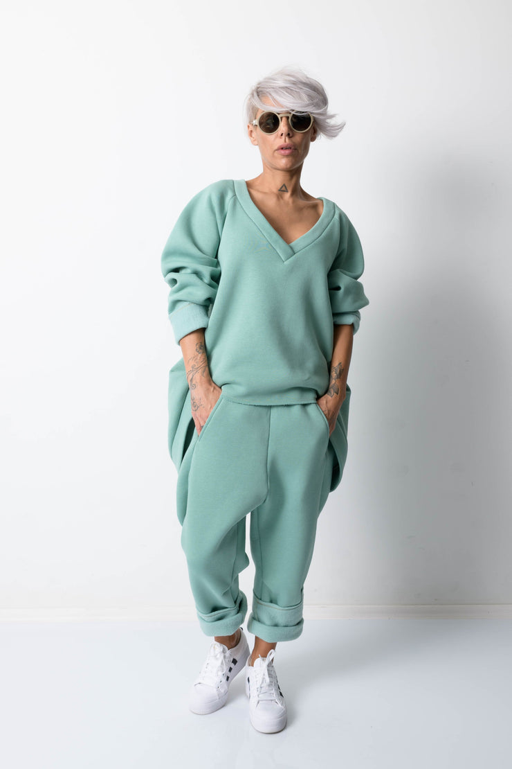 Clothes By Locker Room - Green Two Piece Tracksuit For Women