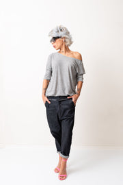 Wide Leg Denim Harem Drop Crotch Women Pants - Clothes By Locker Room