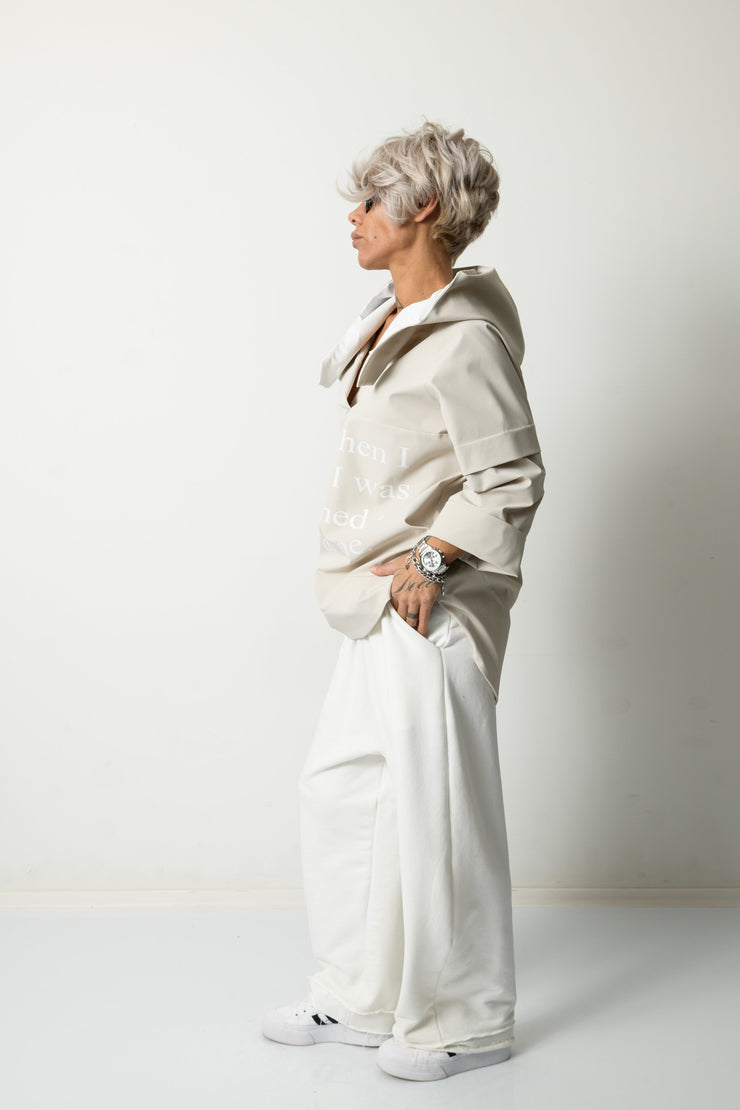Clothes By Locker Room - Beige Loose Blouse Raincoat