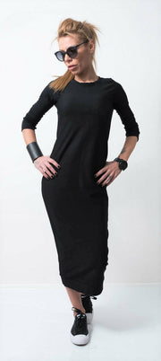 Loose Midi Tunic Dress - Clothes By Locker Room