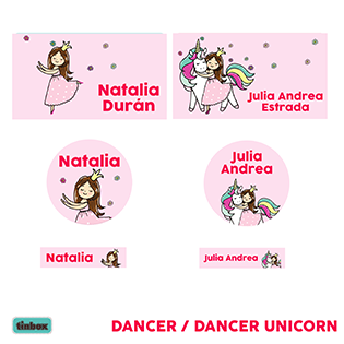 Etiquetas - Dancer Unicorn