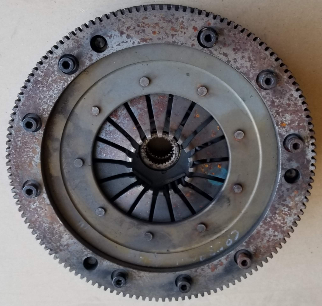 351 Windsor Flywheel, Starter Ring and Dual Disc Clutch.