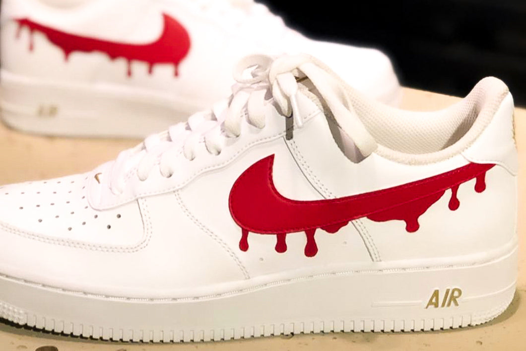 NIKE Air Force 1 '07 Red Drip