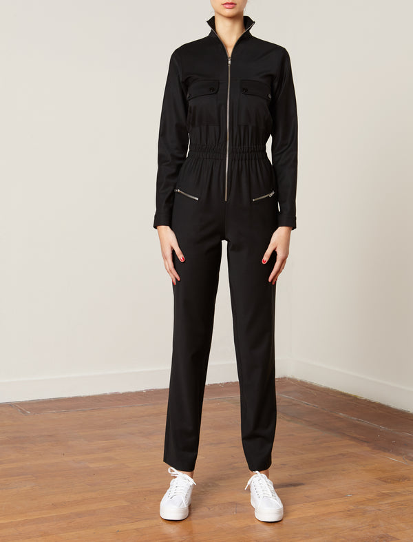 Virgin Wool Jumpsuit Challenger Black