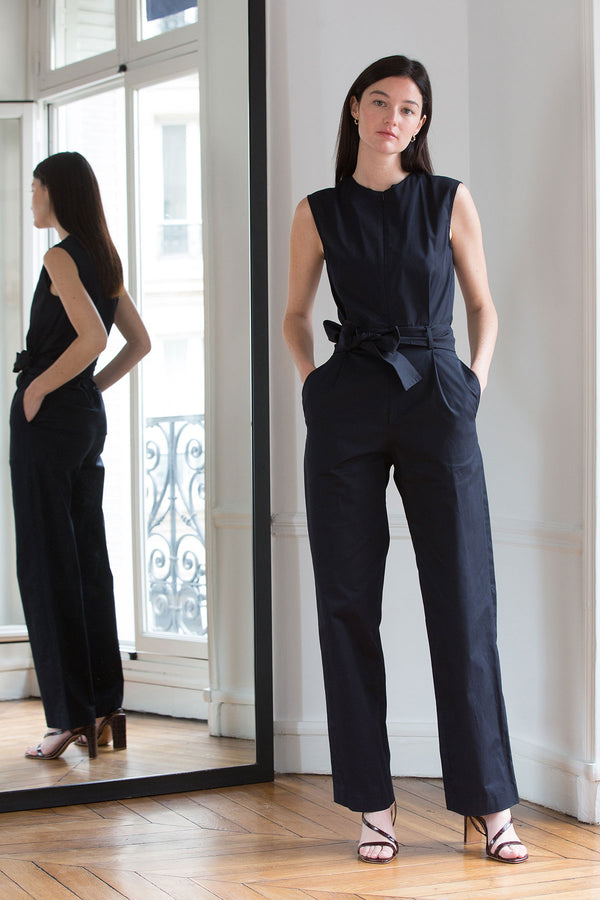 COTTON JUMPSUIT JOB NAVY