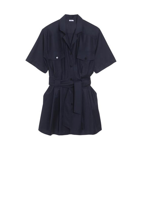 Virgin Wool Playsuit Hélène Navy