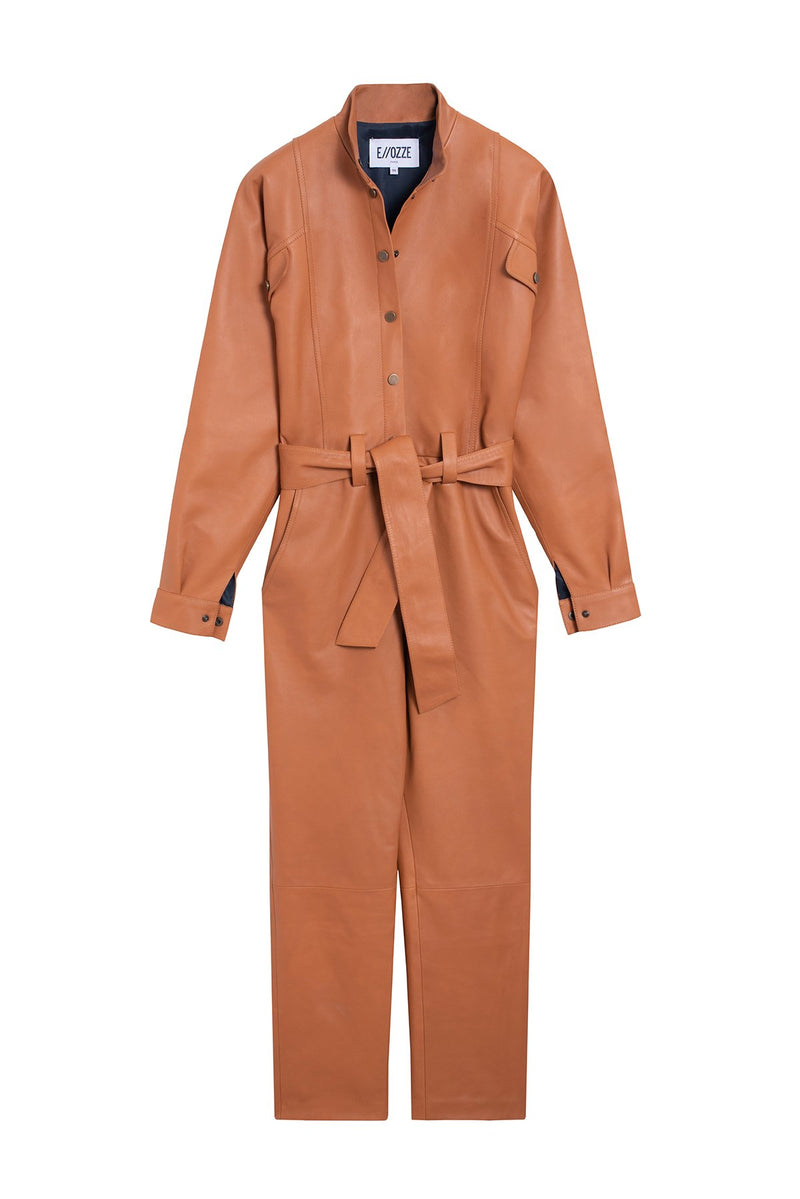 Combinaison Cuir Stephanie Power Camel