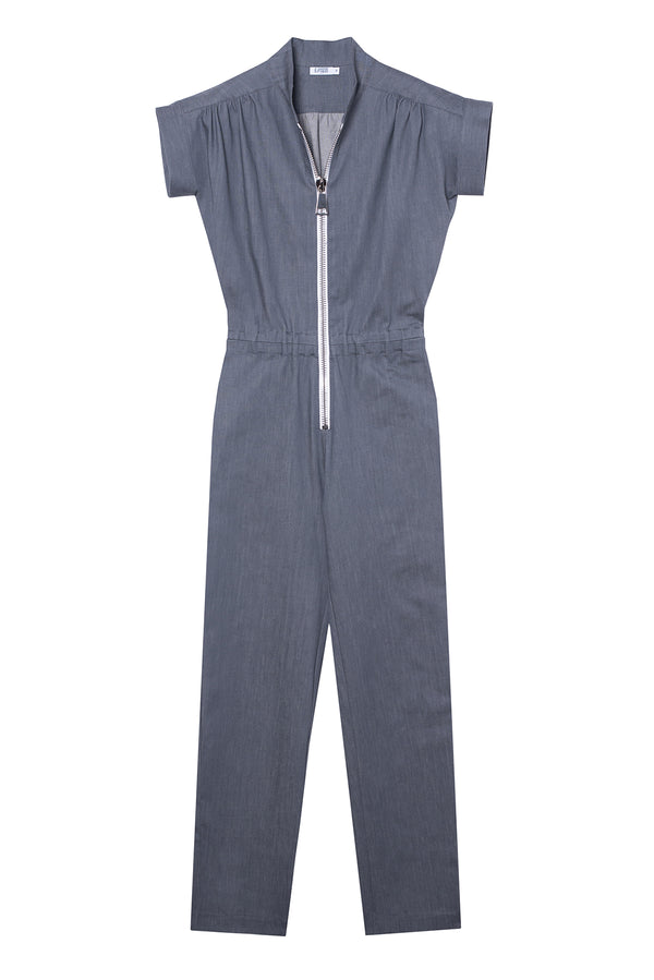 DENIM JUMPSUIT SOUL GREY