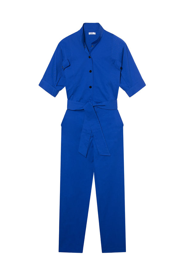 Gabardine Jumpsuit Prude Blue