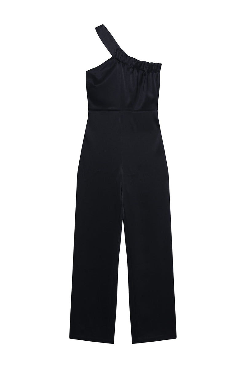 SATIN JUMPSUIT JENNA BLACK