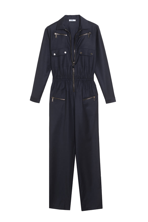 VIRGIN WOOL JUMPSUIT NIKITA NAVY
