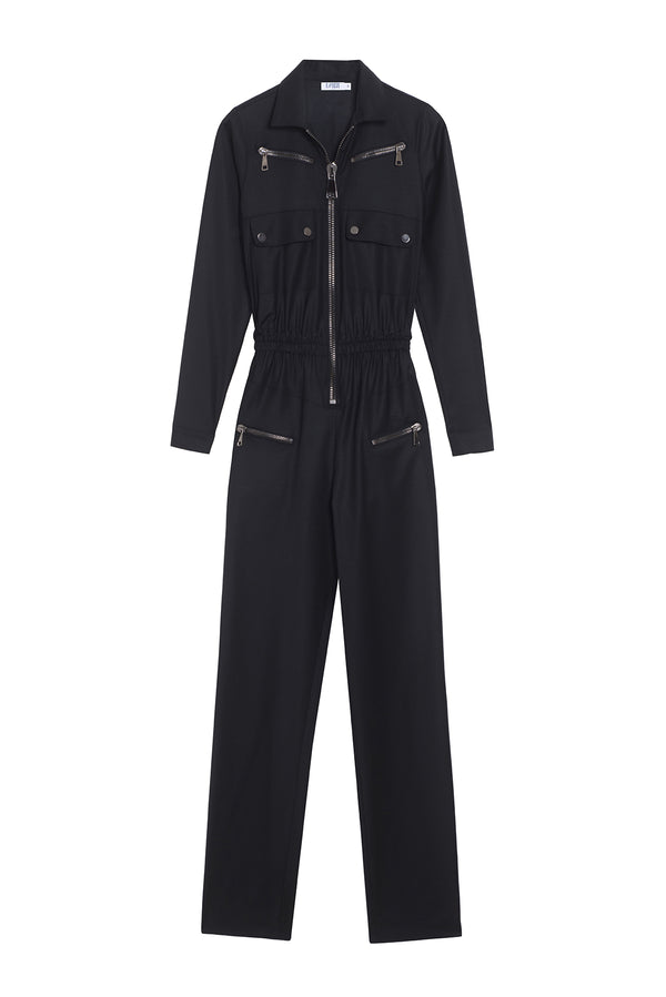 VIRGIN WOOL JUMPSUIT NIKITA BLACK