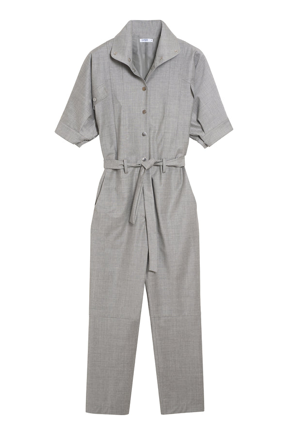 Virgin Wool Jumpsuit Prude Grey