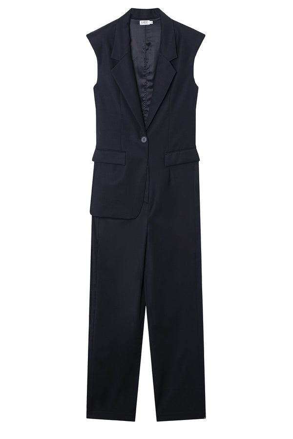Virgin Wool Jumpsuit Brooke Black