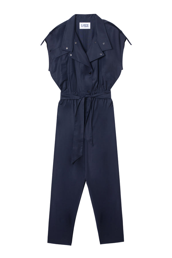 VIRGIN WOOL JUMPSUIT PAOLA NAVY
