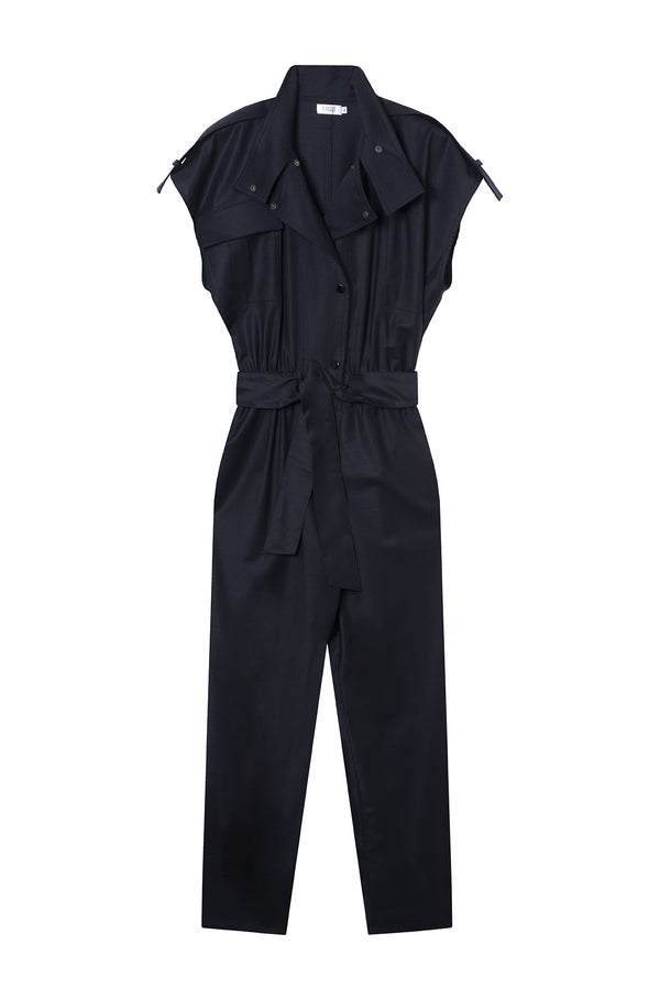 VIRGIN WOOL JUMPSUIT PAOLA BLACK