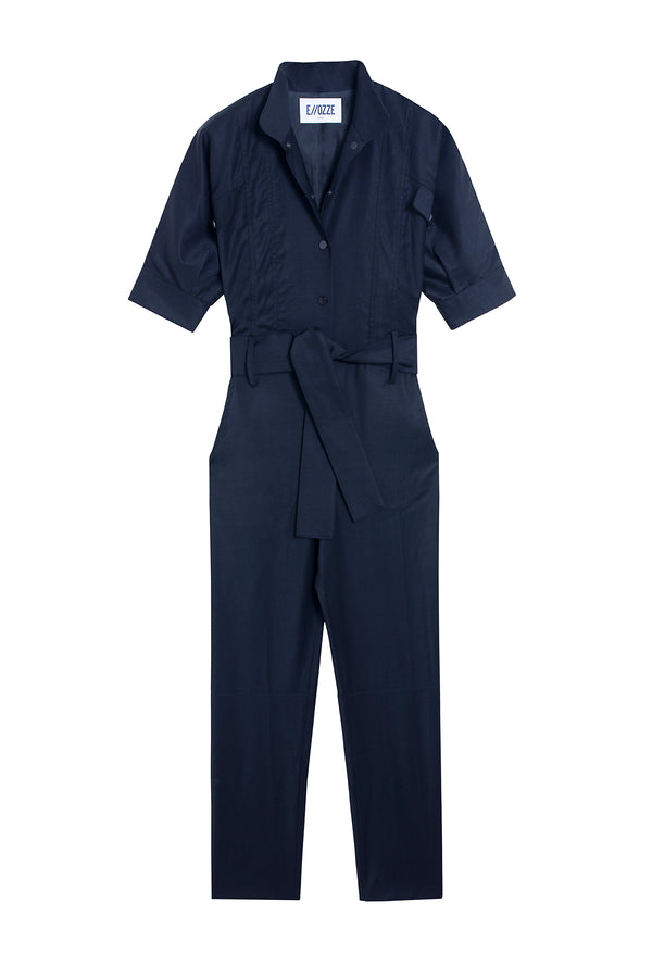 VIRGIN WOOL JUMPSUIT PRUDE NAVY