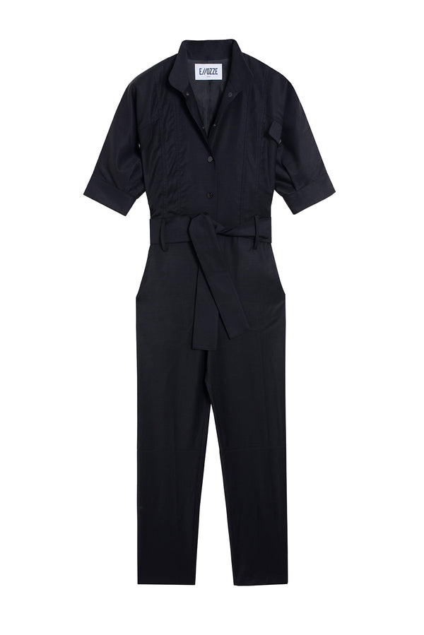 VIRGIN WOOL JUMPSUIT PRUDE BLACK