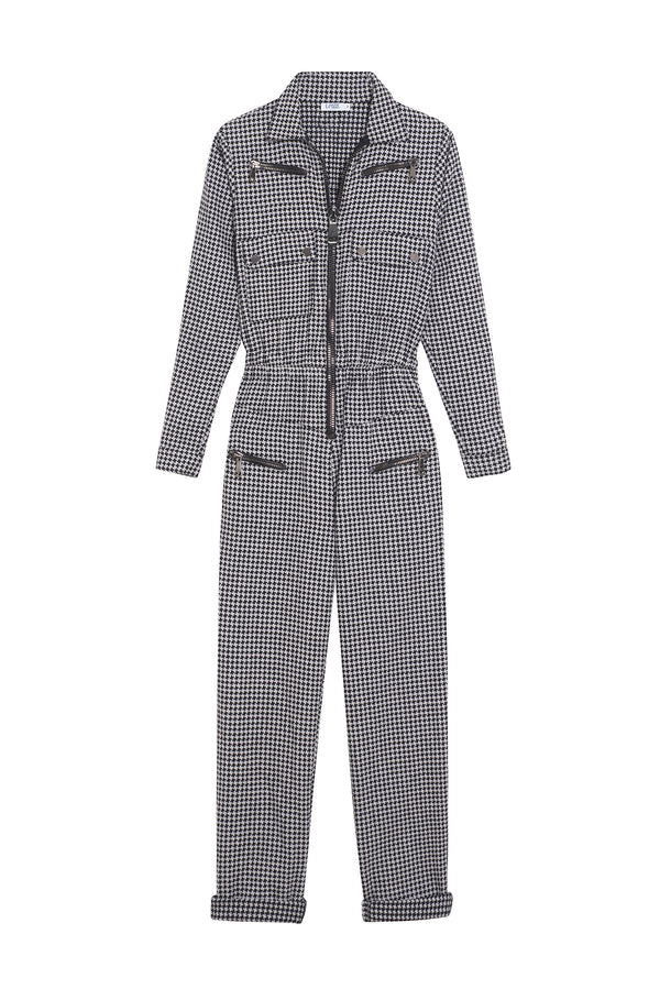 Houndstooth Jumpsuit Nikita Black/White