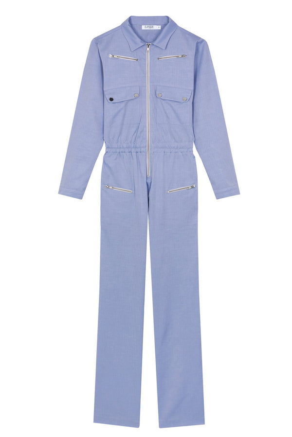 POPLIN JUMPSUIT NIKITA LIGHT BLUE