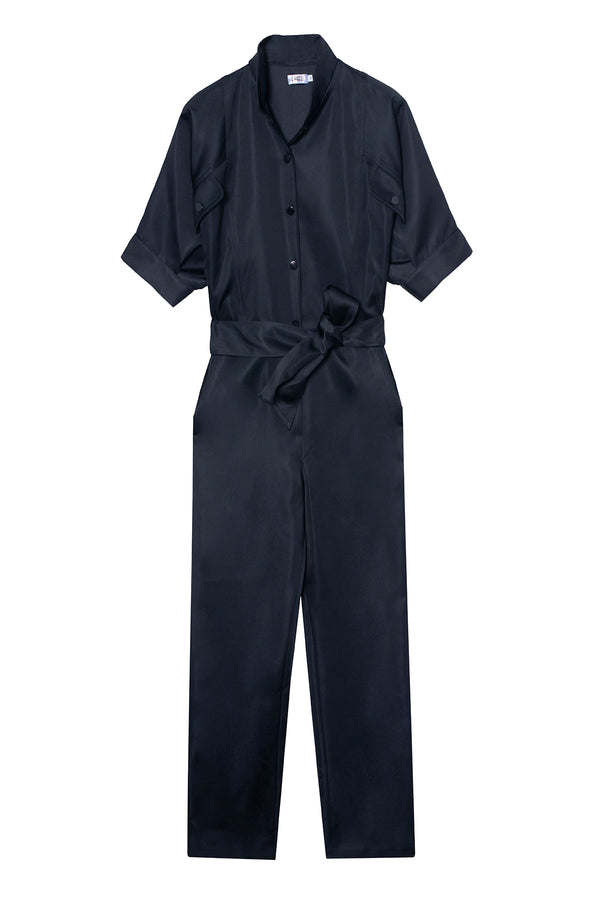 Taffeta Jumpsuit Prude Black