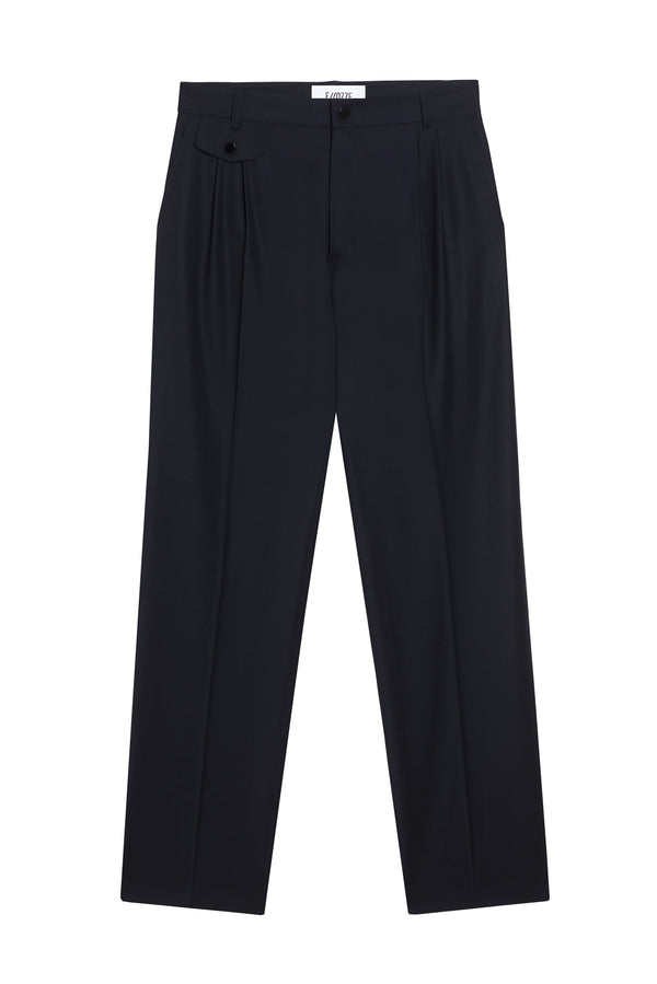 Virgin Wool Pants Coraline Navy