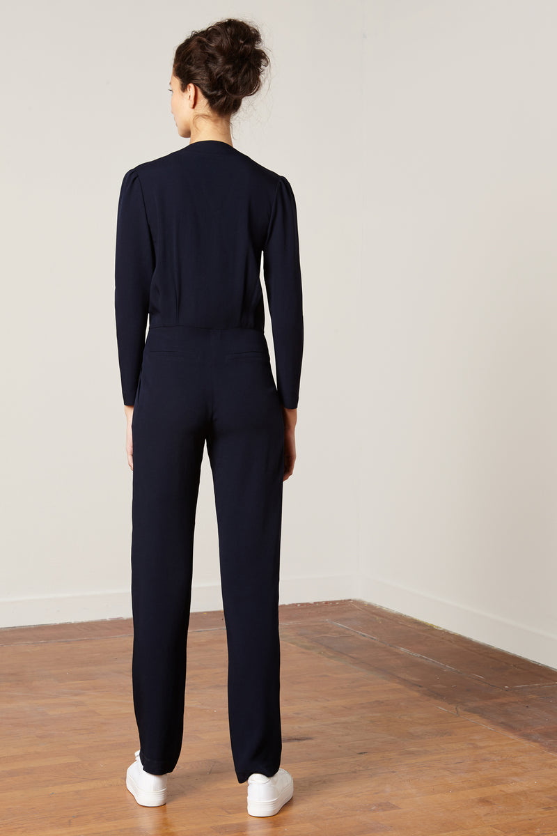 Satin Jumpsuit Samuel Blue
