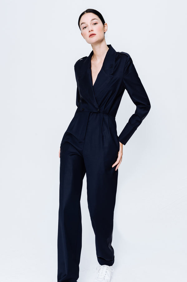Virgin Wool Jumpsuit Katia Navy