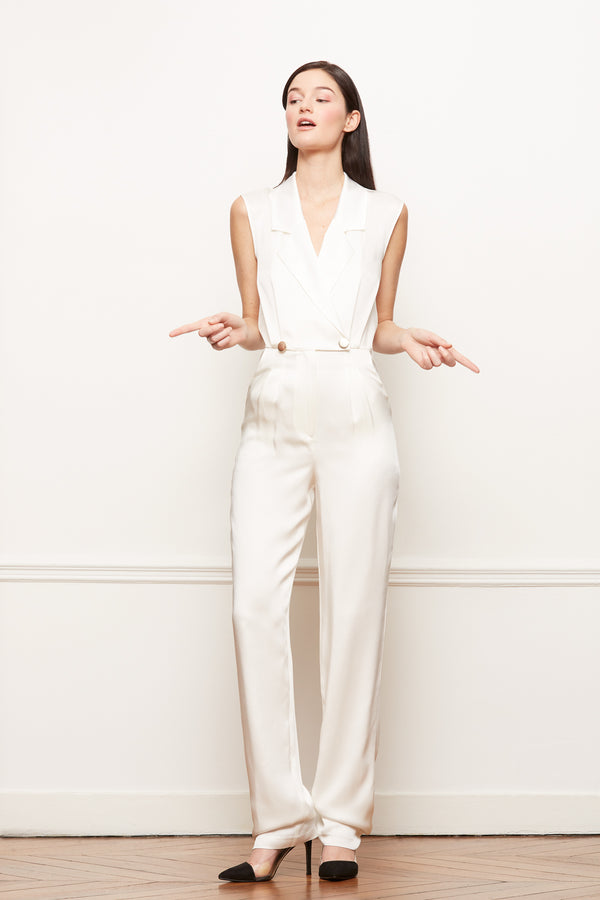 Satin Jumpsuit Narjisse White