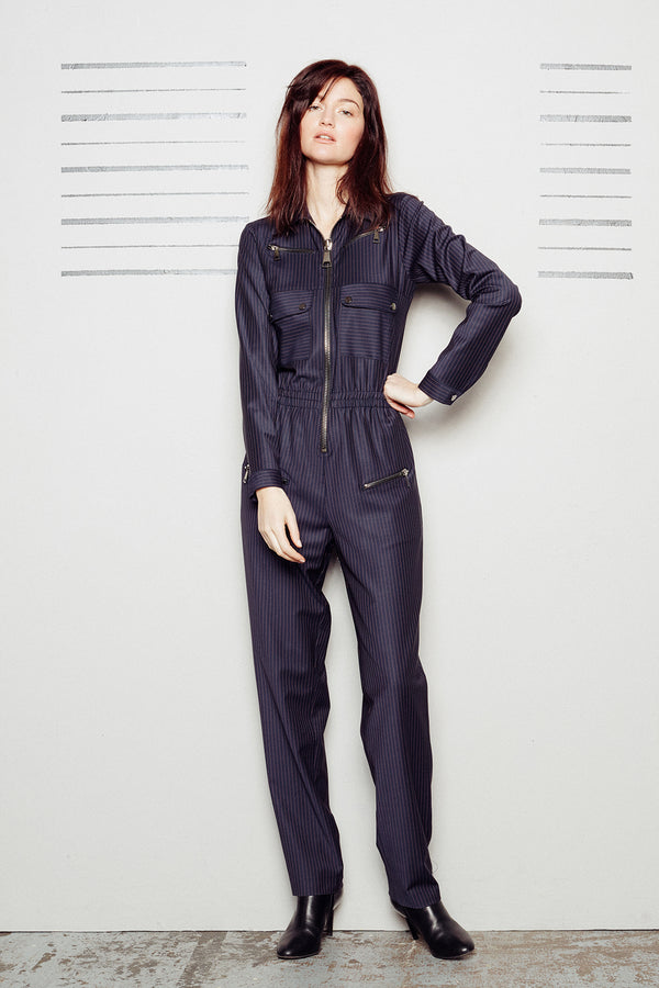 Striped Jumpsuit Nikita Navy/Camel