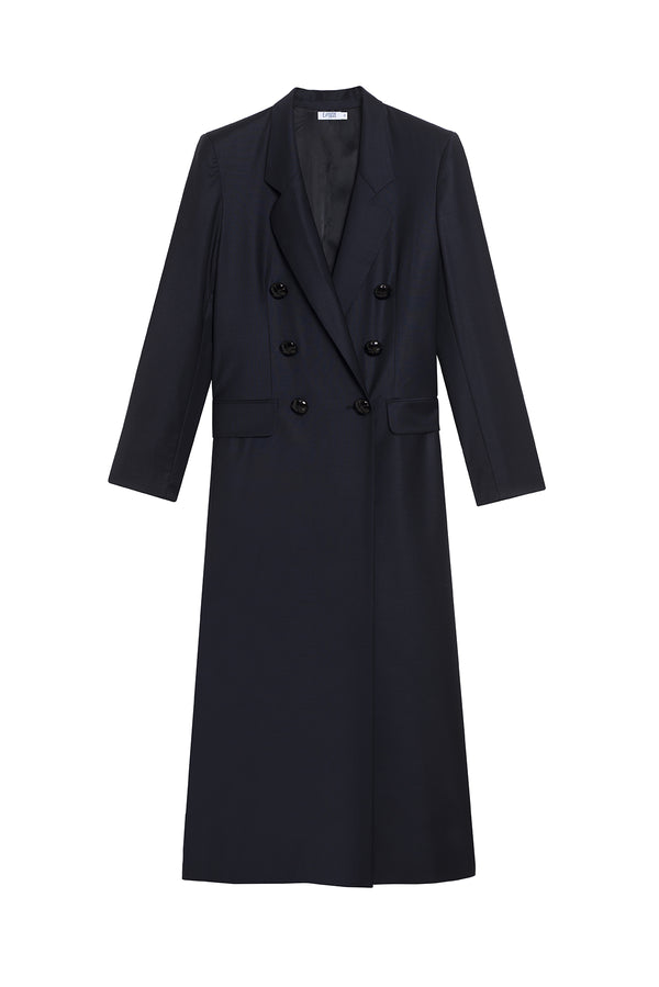 VIRGIN WOOL COAT PAOLO NAVY
