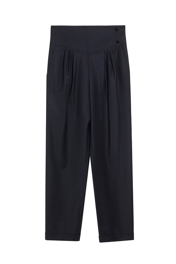 VIRGIN WOOL PANTS MICKAEL NAVY