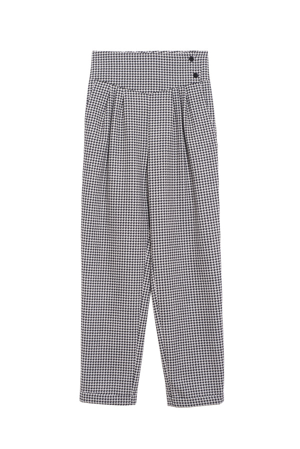 Houndstooth Pants Mickael Black/White